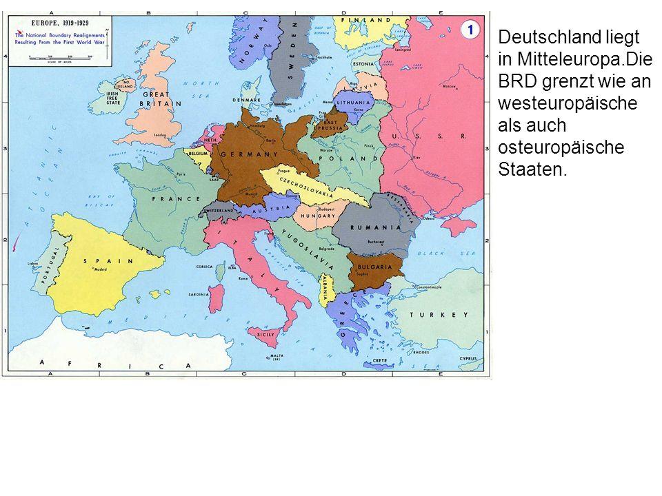Deutschland liegt in Mitteleuropa