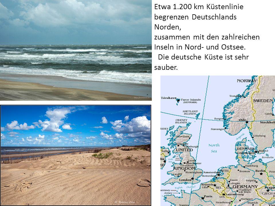 Etwa 1.200 km Küstenlinie begrenzen Deutschlands Norden,