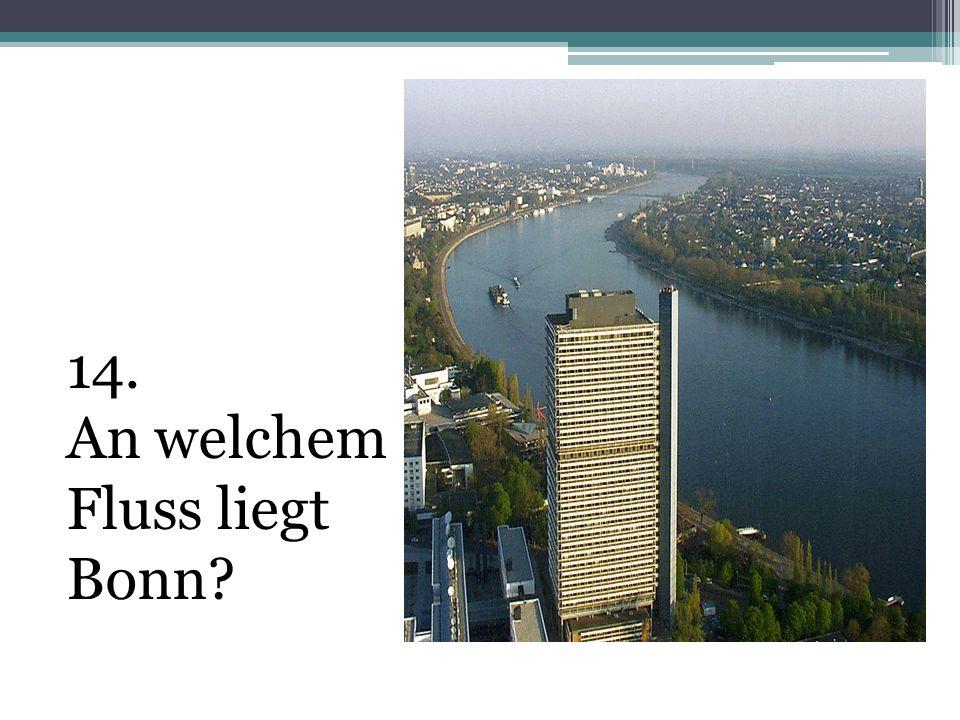 14. An welchem Fluss liegt Bonn