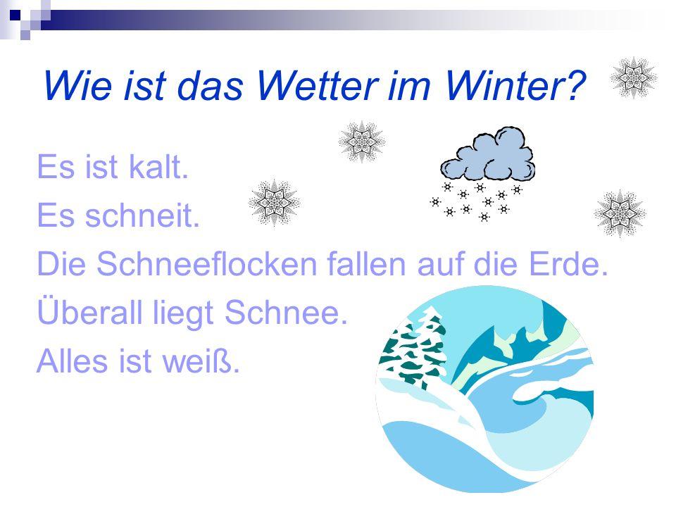 Wie ist das Wetter im Winter