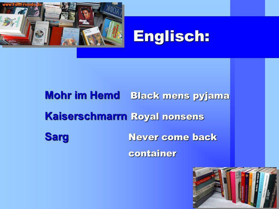 Englisch: Mohr im Hemd Black mens pyjama Kaiserschmarrn Royal nonsens