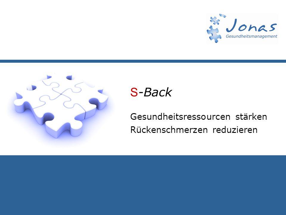 S-Back Gesundheitsressourcen stärken Rückenschmerzen reduzieren