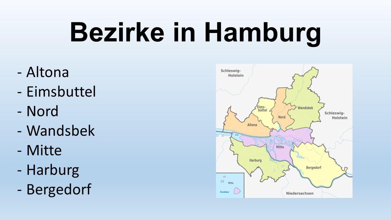 Bezirke in Hamburg Altona Eimsbuttel Nord Wandsbek Mitte Harburg