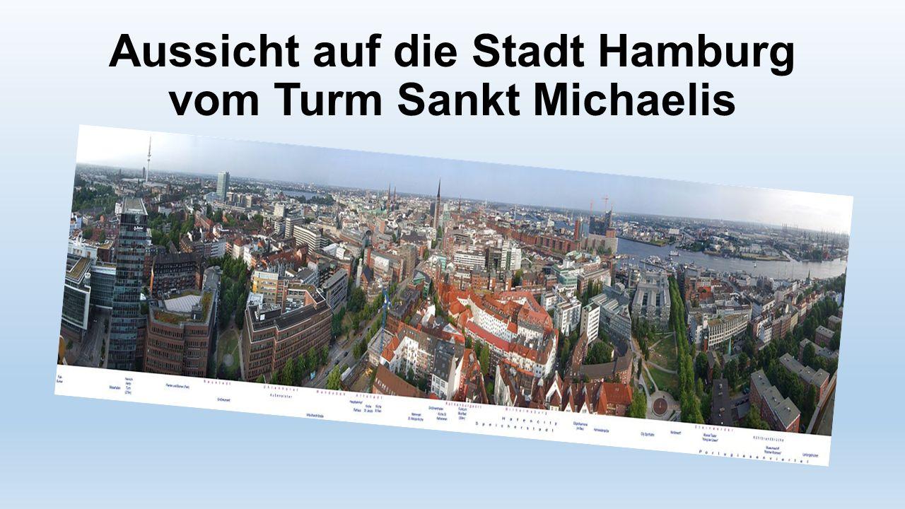 Aussicht auf die Stadt Hamburg vom Turm Sankt Michaelis