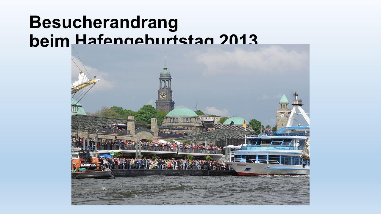 Besucherandrang beim Hafengeburtstag 2013