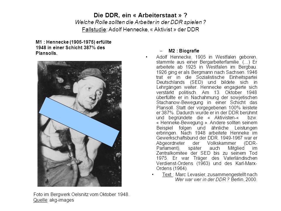 Die DDR, ein « Arbeiterstaat »
