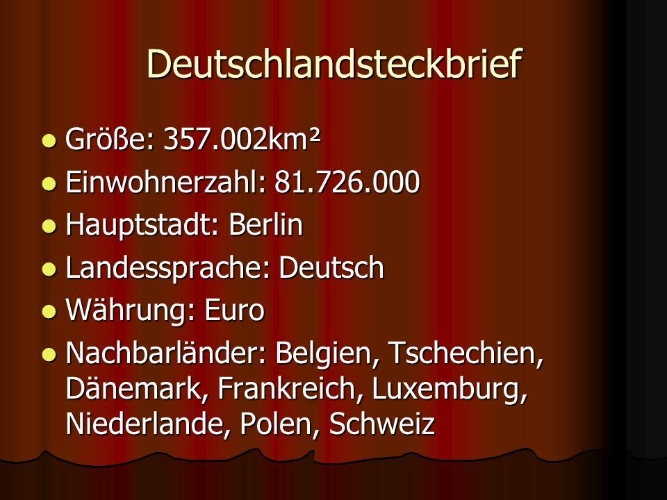Deutschlandsteckbrief