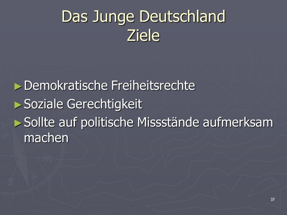 Das Junge Deutschland Ziele