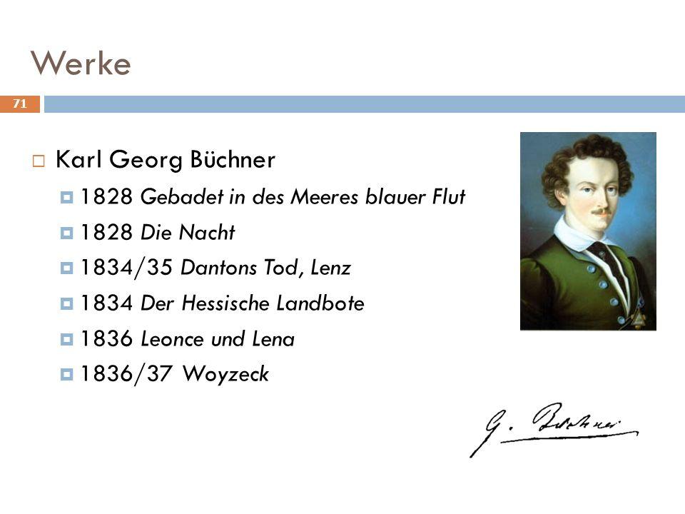 Werke Karl Georg Büchner 1828 Gebadet in des Meeres blauer Flut