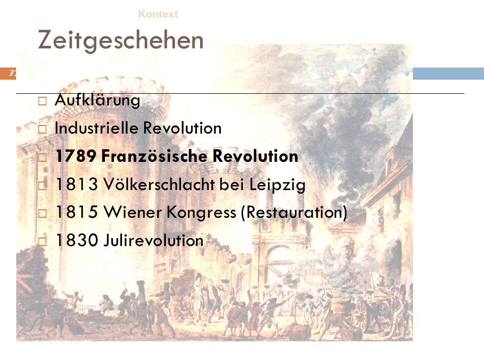 Zeitgeschehen Aufklärung Industrielle Revolution
