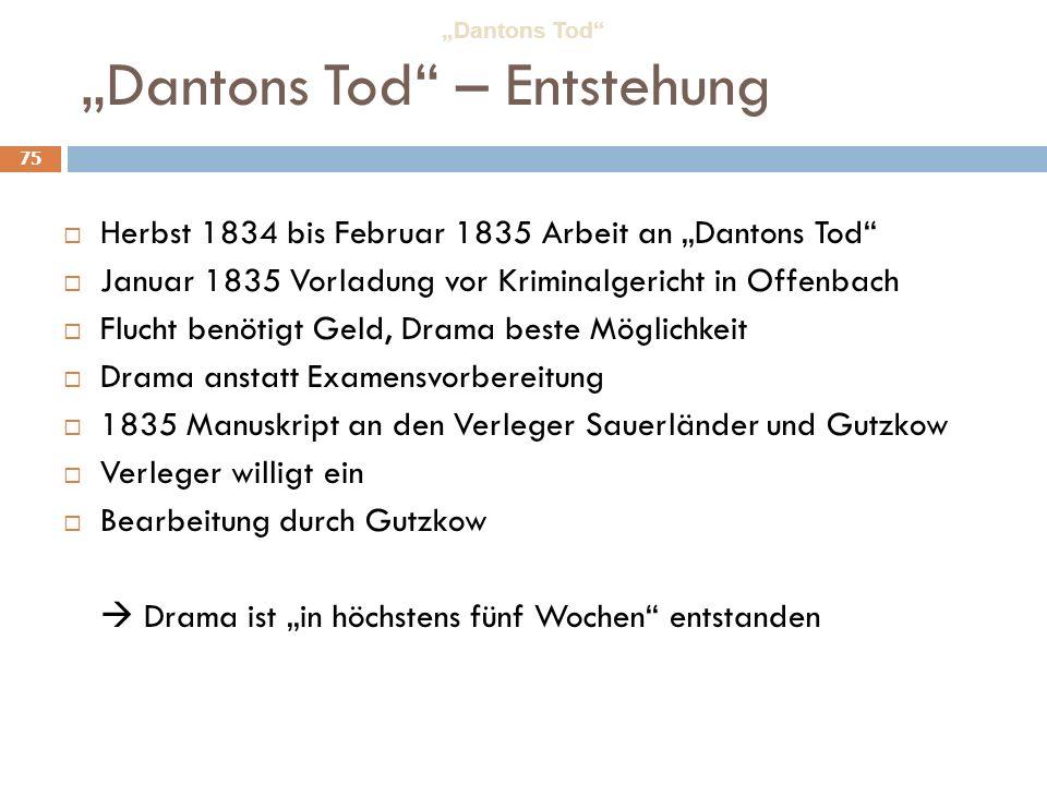 """Dantons Tod – Entstehung"