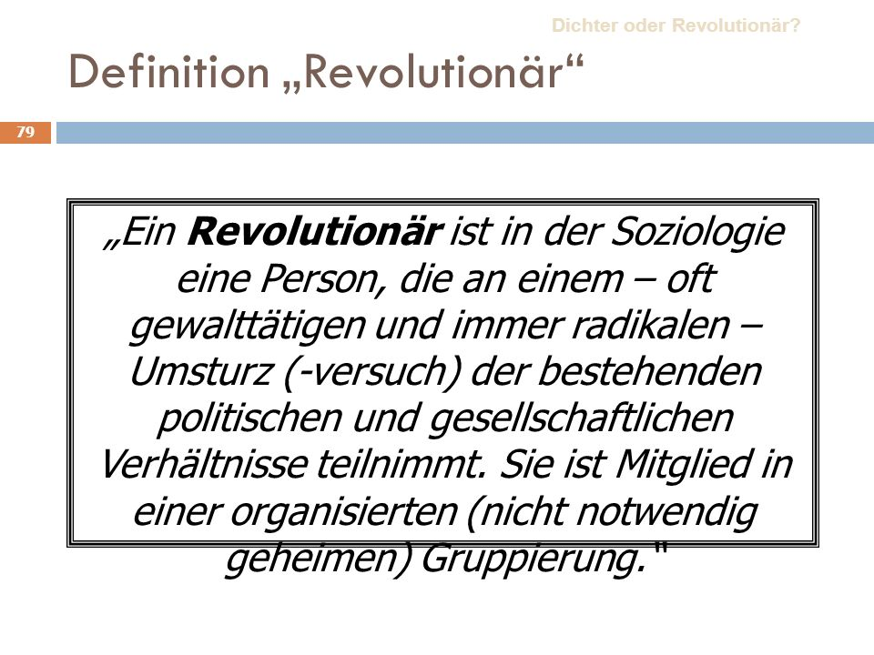 "Definition ""Revolutionär"