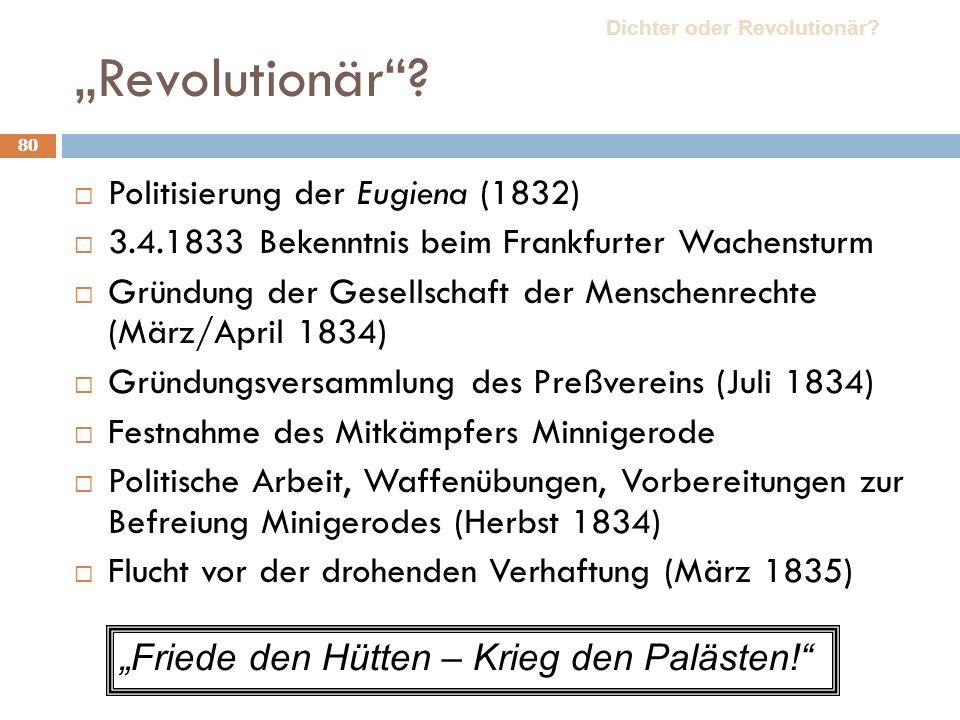 """""""Revolutionär Politisierung der Eugiena (1832)"""
