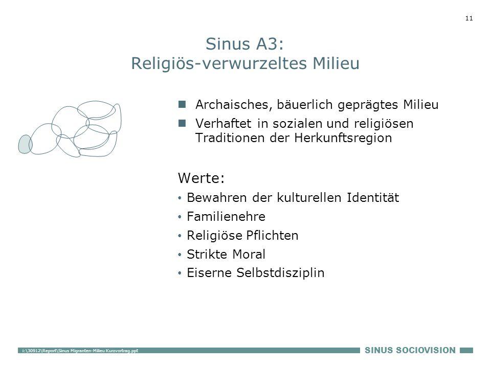 Sinus A3: Religiös-verwurzeltes Milieu