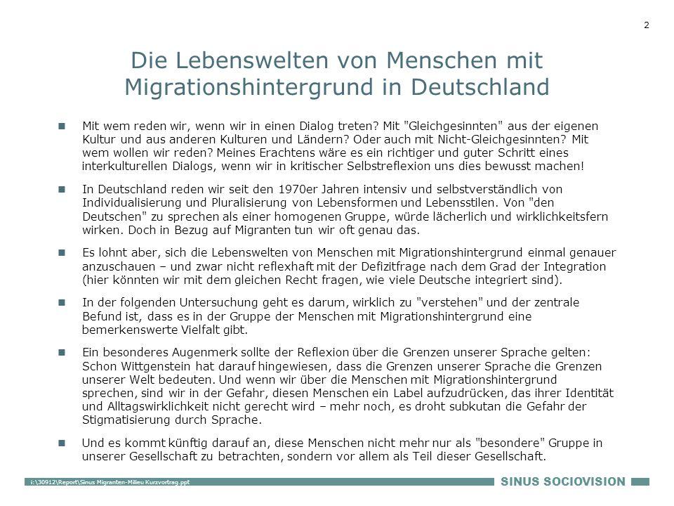 Die Lebenswelten von Menschen mit Migrationshintergrund in Deutschland