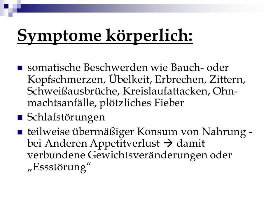 Symptome körperlich: