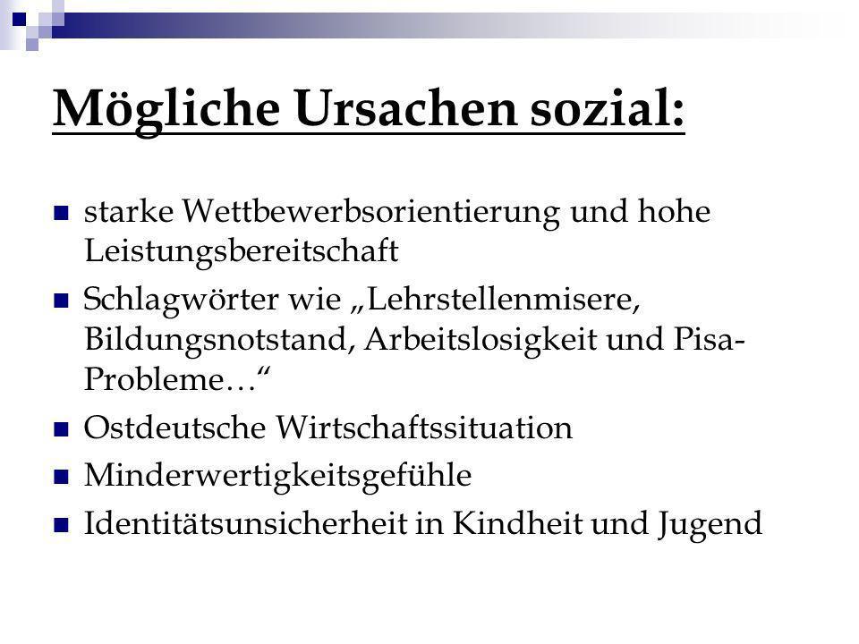 Mögliche Ursachen sozial: