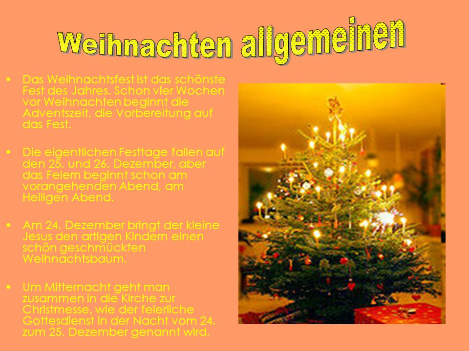 Weihnachten allgemeinen