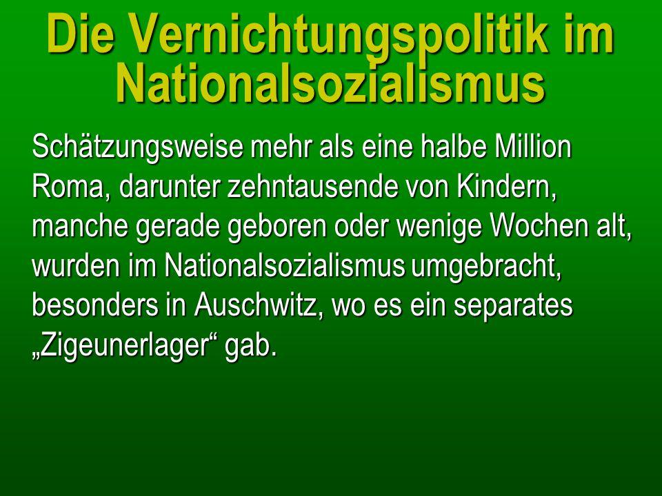 Die Vernichtungspolitik im Nationalsozialismus