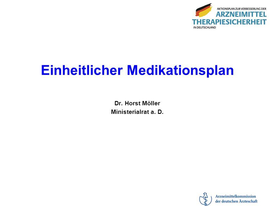 Einheitlicher Medikationsplan