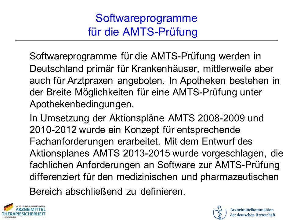 Softwareprogramme für die AMTS-Prüfung