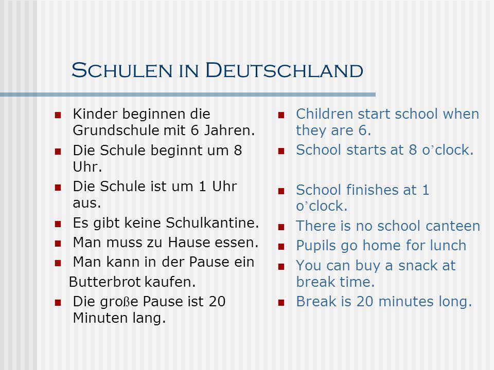 Schulen in Deutschland