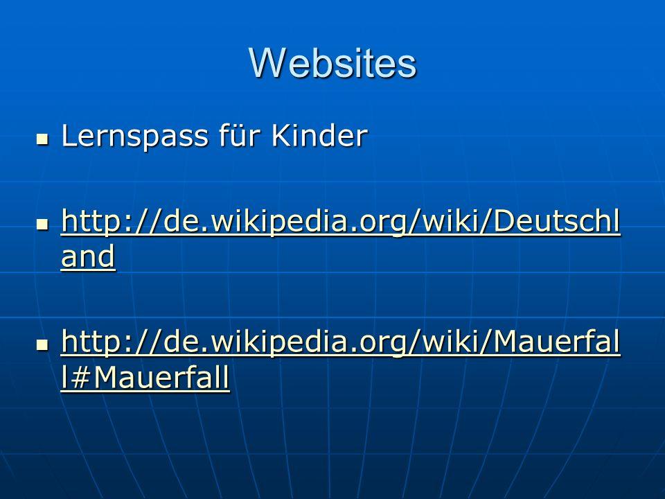 Websites Lernspass für Kinder http://de.wikipedia.org/wiki/Deutschland