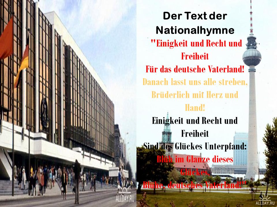 Der Text der Nationalhymne