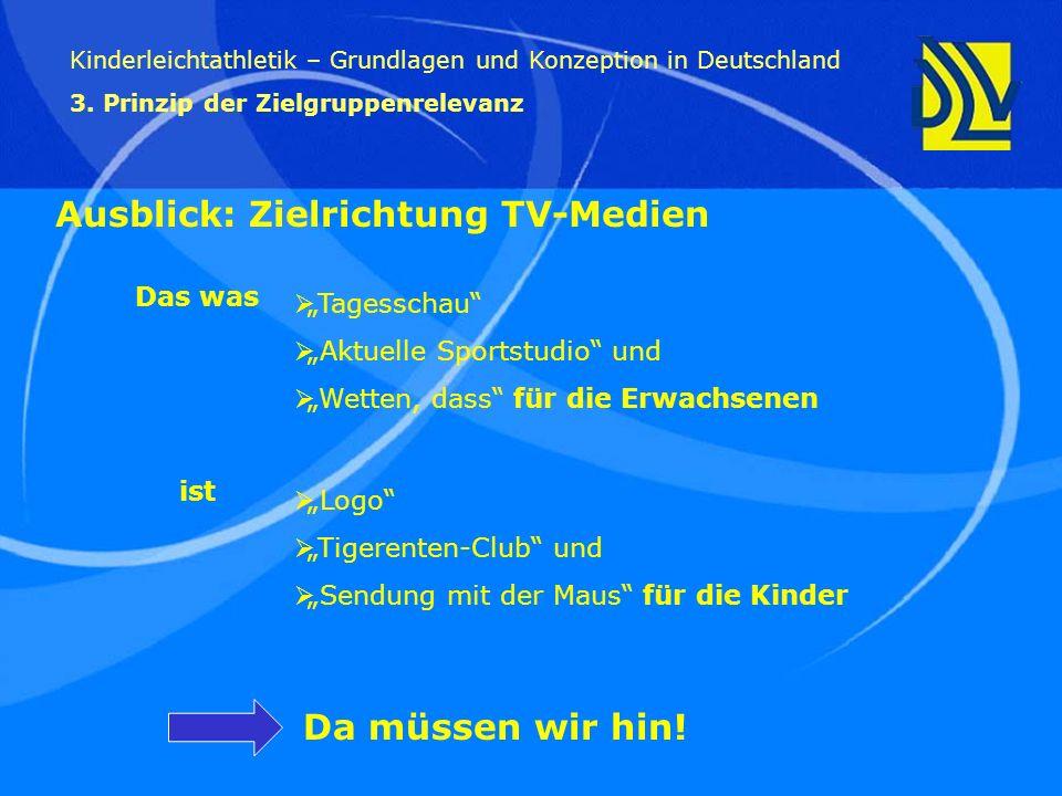 Ausblick: Zielrichtung TV-Medien