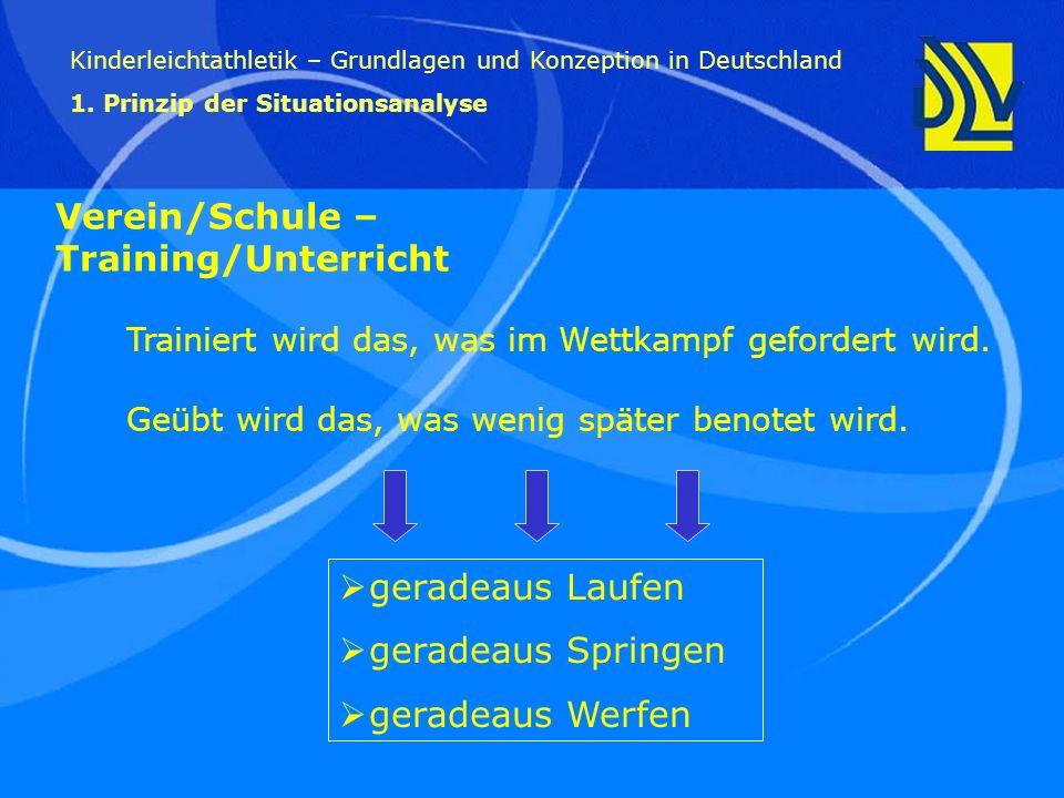 Verein/Schule –Training/Unterricht