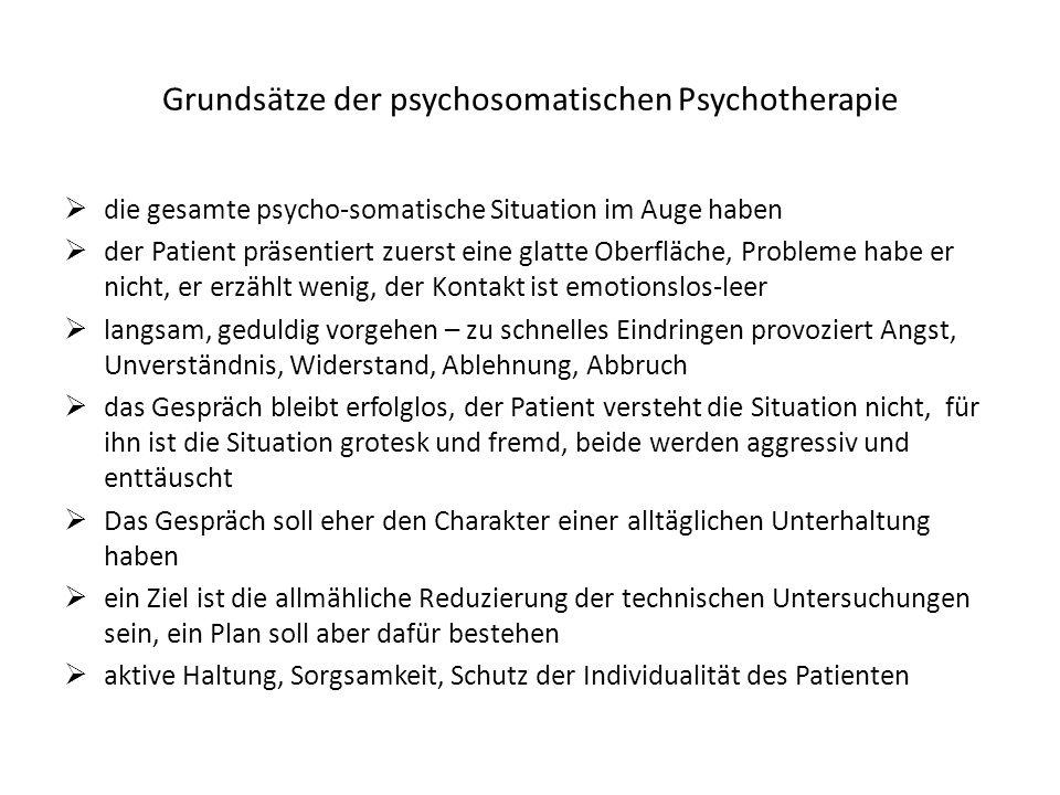 Grundsätze der psychosomatischen Psychotherapie