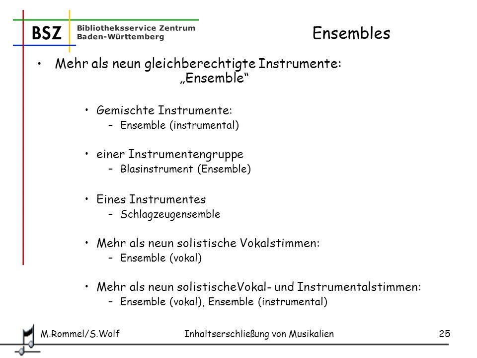 """Ensembles Mehr als neun gleichberechtigte Instrumente: """"Ensemble"""