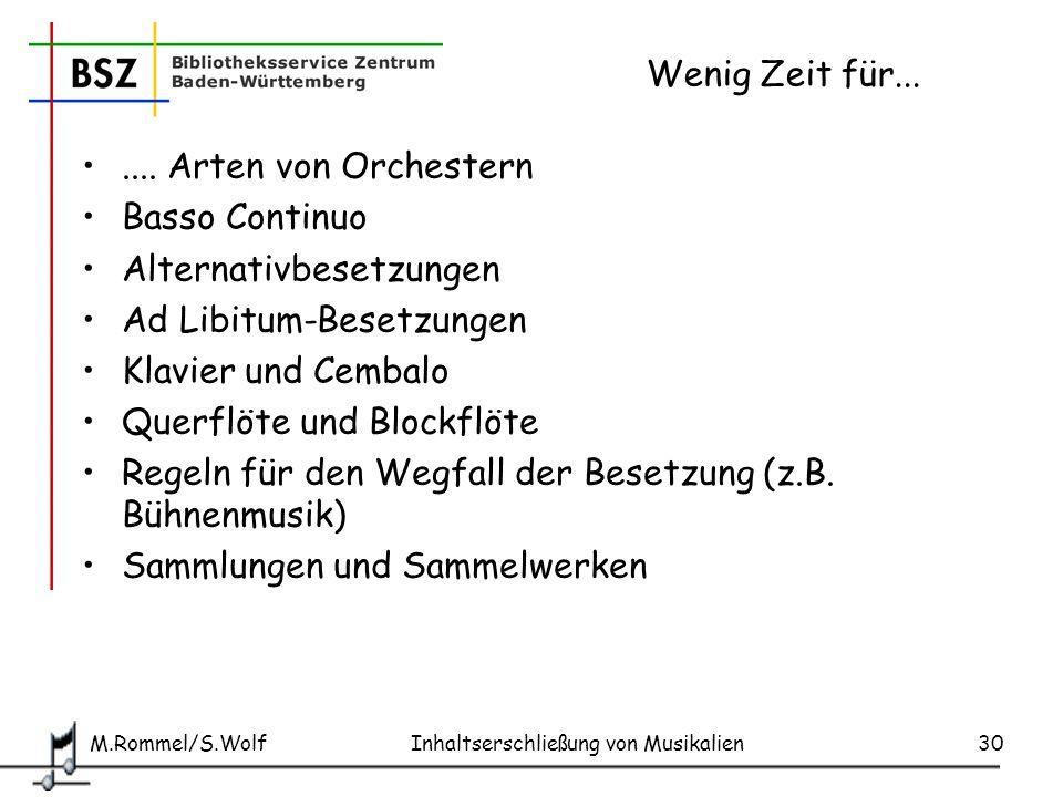 Alternativbesetzungen Ad Libitum-Besetzungen Klavier und Cembalo
