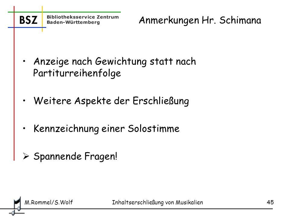 Anmerkungen Hr. Schimana