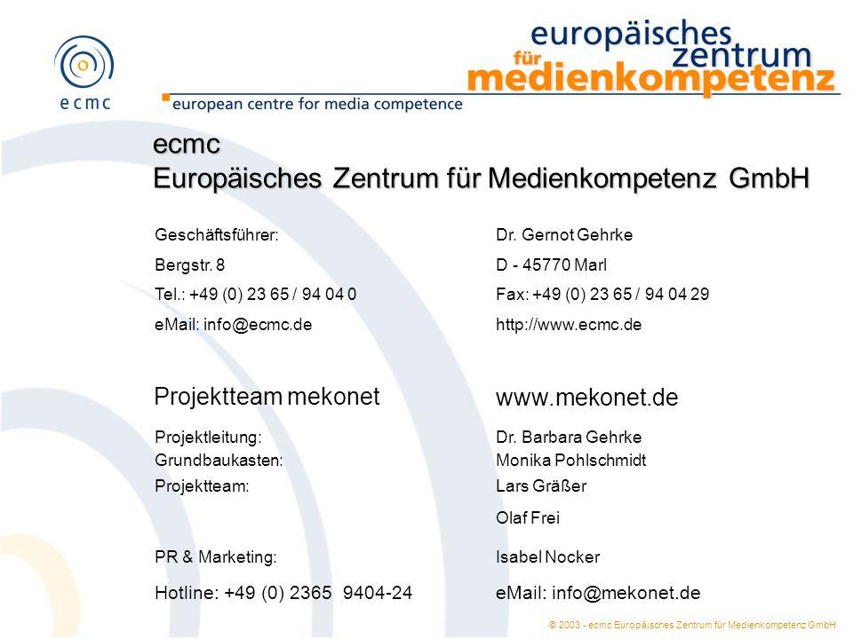 Europäisches Zentrum für Medienkompetenz GmbH