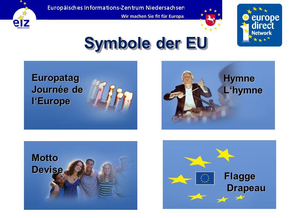 Symbole der EU Europatag Journée de l'Europe Hymne L'hymne