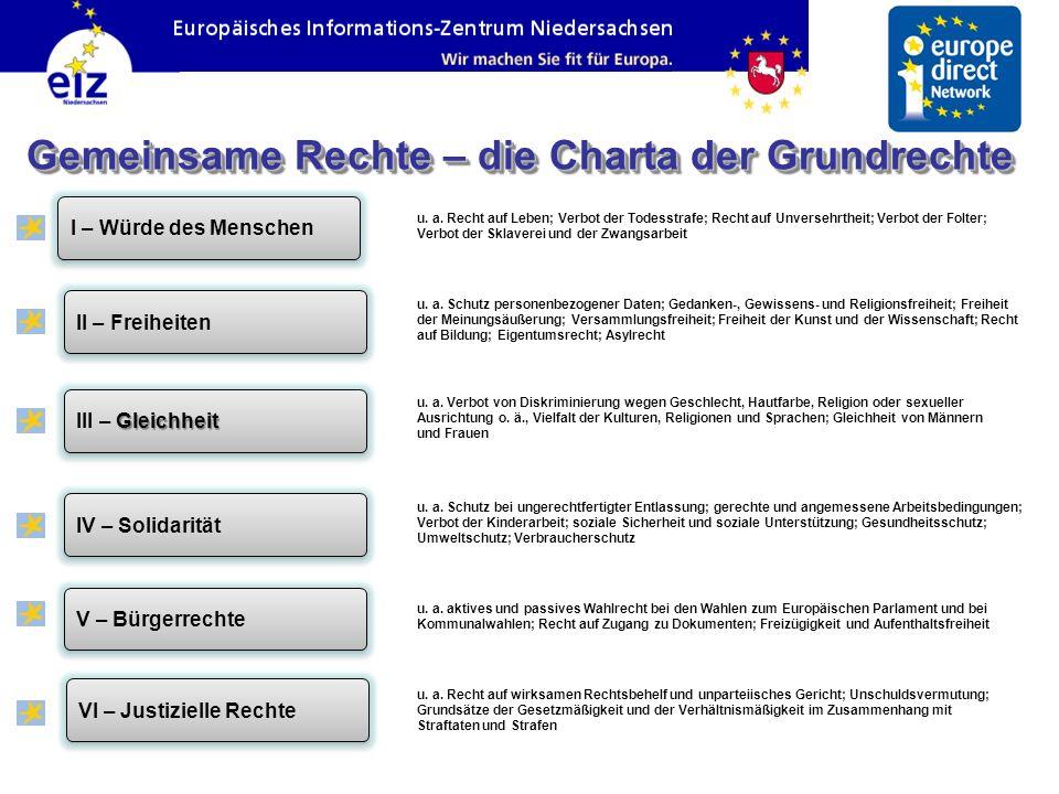 Gemeinsame Rechte – die Charta der Grundrechte