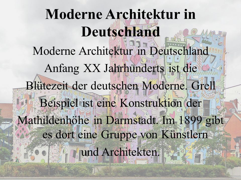 Moderne Architektur in Deutschland