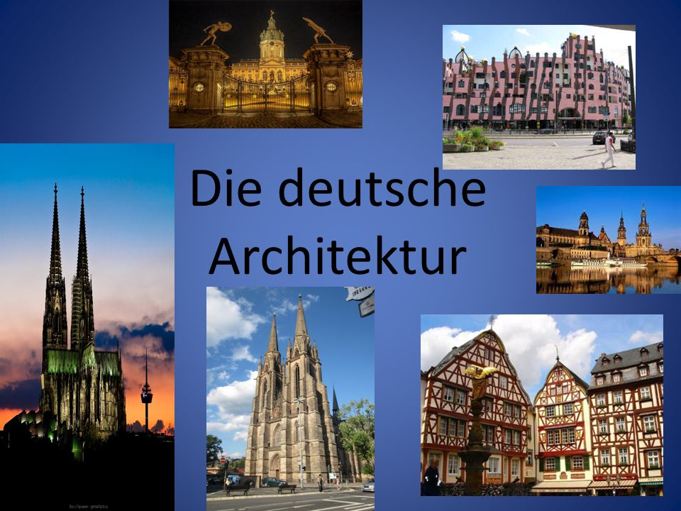 Die deutsche Architektur