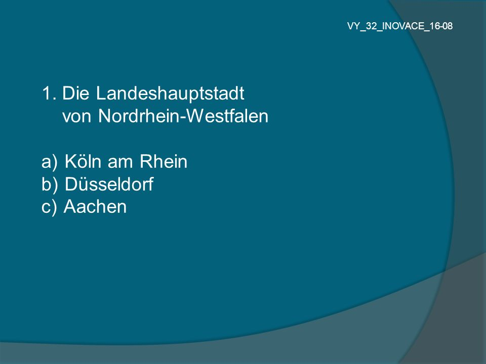 von Nordrhein-Westfalen Köln am Rhein Düsseldorf Aachen