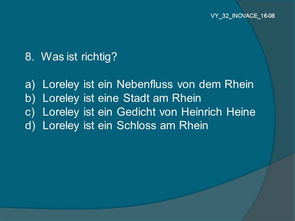 Loreley ist ein Nebenfluss von dem Rhein