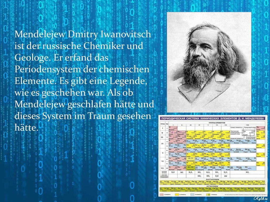 erfand ein deutscher das periodensystem