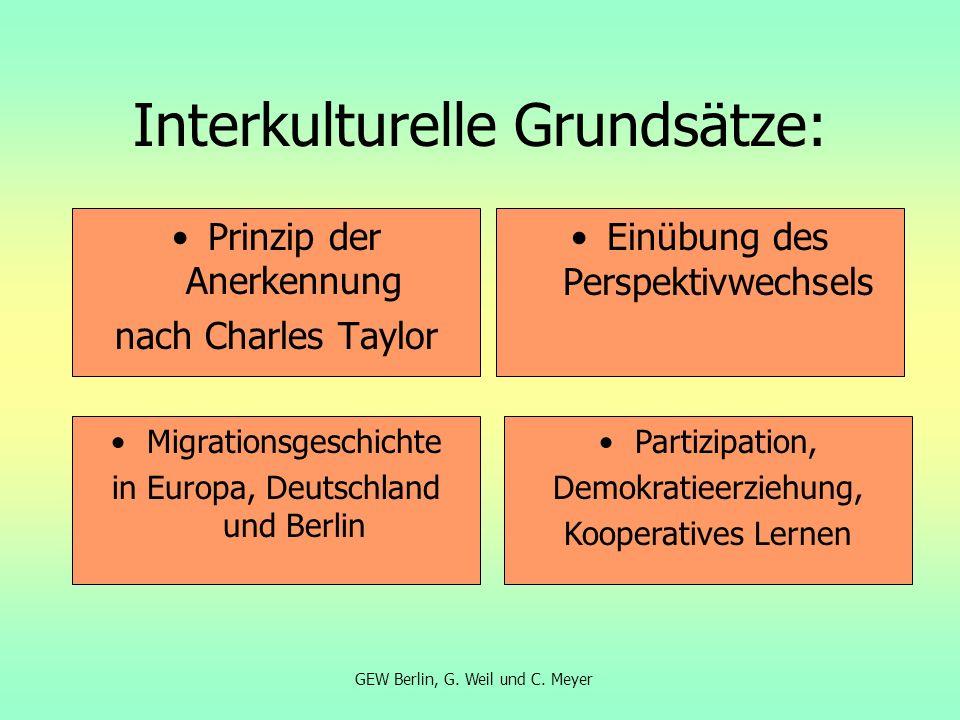 Interkulturelle Grundsätze:
