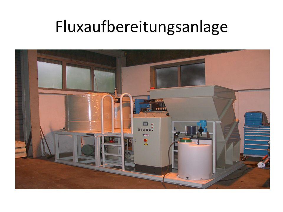 Fluxaufbereitungsanlage