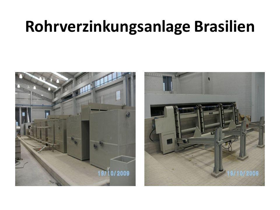 Rohrverzinkungsanlage Brasilien