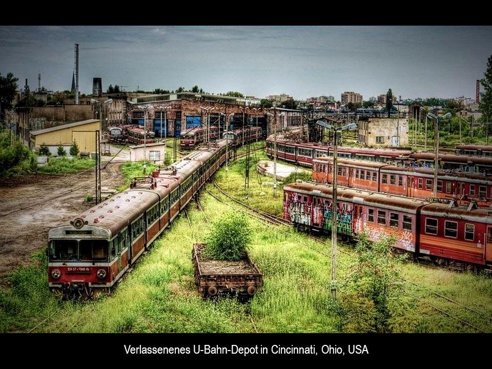 Verlassenenes U-Bahn-Depot in Cincinnati, Ohio, USA