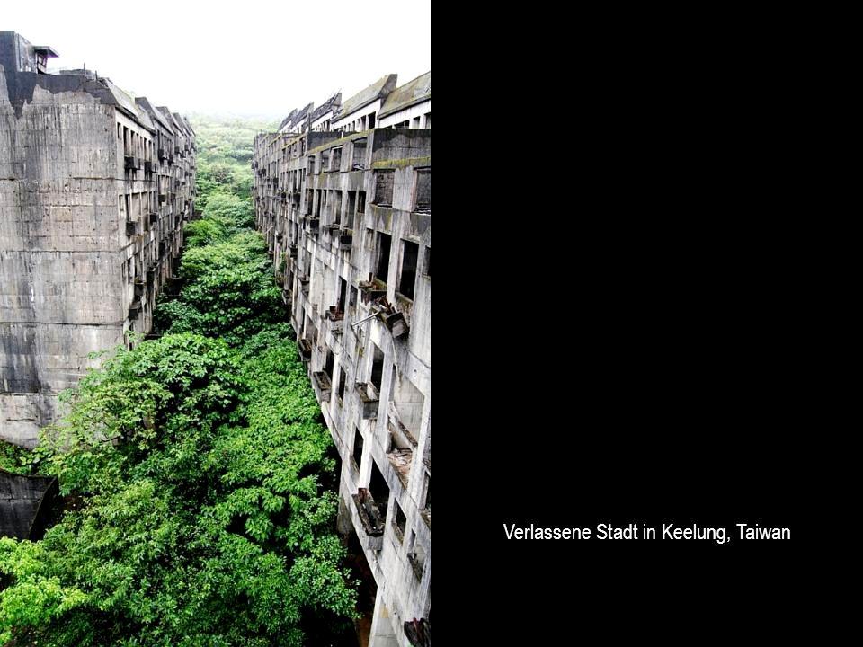 Verlassene Stadt in Keelung, Taiwan
