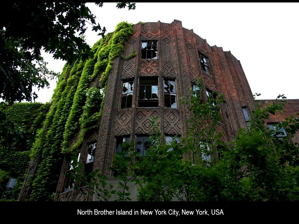 North Brother Island in New York City, New York, USA