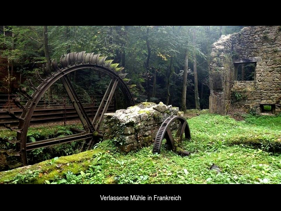 Verlassene Mühle in Frankreich