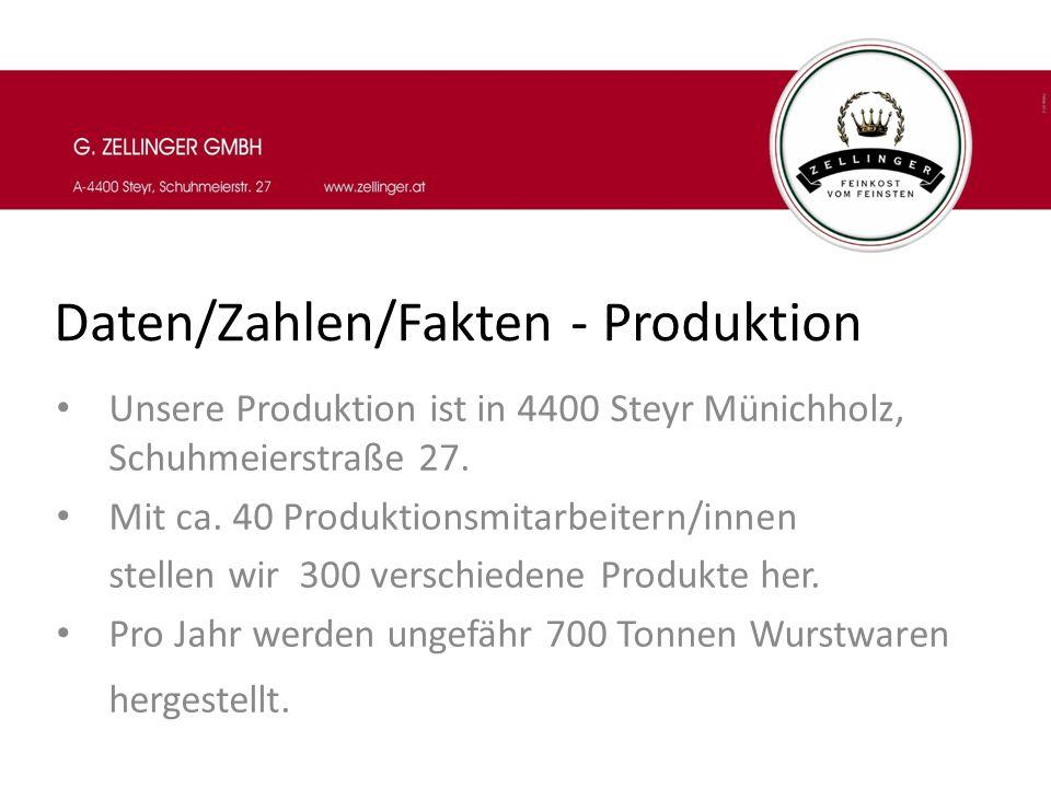 Daten/Zahlen/Fakten - Produktion